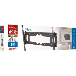 """Barkan E410+ Wall Mount for TV - Black - 1 Display(s) Supported - 32"""" to 90"""" Screen Support - 465.18 lb Load Capacity - 60"""