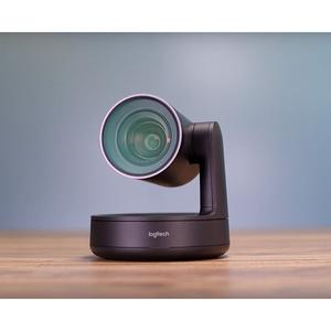 Logitech Video Conferencing Camera - 13 Megapixel - 60 fps - Matte Black, Slate Grey - USB 3.0 - 3840 x 2160 Video - Auto-