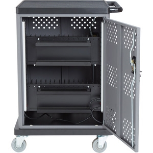 """Oklahoma Sound Duet Charging Cart - 4"""" Caster Size - 28.1"""" Width x 22"""" Depth x 38.3"""" Height - Steel Frame - For 32 Devices"""