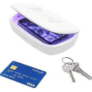Mophie UV Sanitizer with Wireless Charging - 5 V DC Input - Input connectors: USB UV SANITIZER CHARGING BOX - WHITE