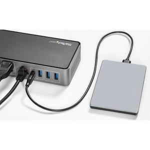 StarTech.com USB 3.1 (3.1 Gen. 2) Typ C Docking Station für Notebook/Workstation - 85 W - 3 Unterstützte Displays - 4K - 3