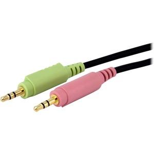 StarTech.com 1,8 m 4-in-1 USB Dual Link DVI-D KVM-Switch Kabel mit Audio und Mikrofon - Erster Anschluss: 1 x DVI-D (Dual-