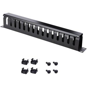 """StarTech.com CMDUCT1UX Kabelmanagement-Panel - Schwarz - 1 Paket - TAA-konform - 1U Höhe - 19"""" Breite - Stahl"""