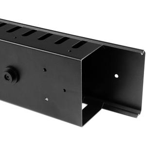StarTech.com Durchführungspaneel - Schwarz - 2 Paket - TAA-konform - 40U Höhe - Stahl, Plastik