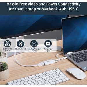 StarTech.com USB C to HDMI 2.0 Adapter 4K 60Hz with 60W Power Delivery Pass-Through Charging - USB Type-C to HDMI Video Co