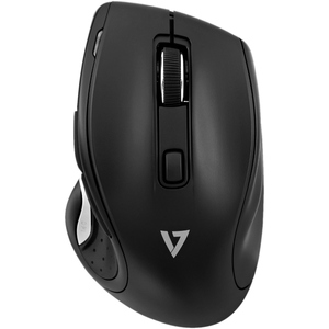 V7 MW600 6-Button Wireless Optical Mouse with Adjustable DPI - Black - Optical - Wireless - Radio Frequency - 2.40 GHz - B
