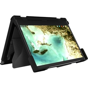 """MAXCases Extreme Shell-S for Dell 3100 Chromebook Clamshell 11.6"""" (Black) - For Dell Chromebook - Textured - Black, Clear"""