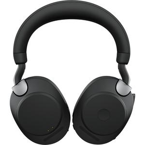 Jabra Evolve2 85 Wireless Over-the-head Stereo Headset - Black - Binaural - Supra-aural - Bluetooth