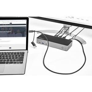 StarTech.com USB-C USB-A Dock - Hybrid Triple Monitor Laptop Docking Station DP & HDMI 4K/85W PD/GbE DK31C3HDPDUE - 3 Unte