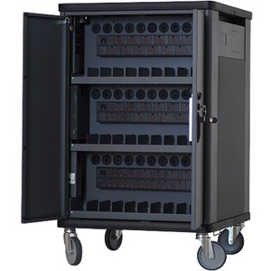 V7 CHGCT30I-1K Charging Cart - Recessed Handle - 4 Casters - 127 mm Caster Size - Cold-rolled Steel (CRS) - 690.1 mm Lengt
