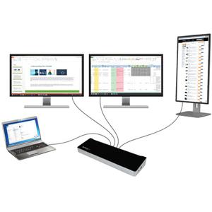 StarTech.com Triple Monitor USB 3.0 Laptop Docking Station - 4K HDMI, 2x DisplayPort - Universal USB Dock for Windows & Ma