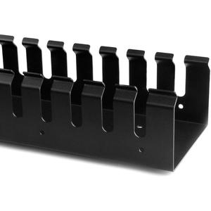 StarTech.com Vertikaler Kabelordner mit Finger Duct - 0U - 1,8m - Rack Kabelmanager - 40U Höhe - Stahl, Plastik