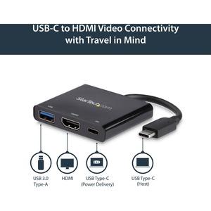 StarTech.com AV-Adapter - 1 Paket - 1 x Typ-C Stecker USB - 1 x HDMI Buchse Digitaler Audio-/Video-Anschluss, 1 x Typ A Bu