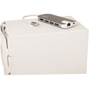 Urban Factory USB Type-C Mobile Station - for Notebook - 45 W - USB Type C - 3 x USB Ports - 3 x USB 3.0 - Network (RJ-45)