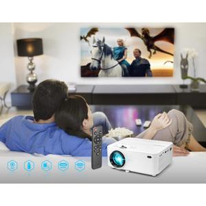 Projecteur LCD Technaxx Beamer TX-113 - 16:9 - Blanc - VGA - Résolution 800 x 480 - 1800 lm - 2,000:1 - Avant - 480p - 400