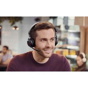 Jabra Evolve2 65 Link380 USB-A MS Stereo Headset - Schwarz - Kabellos - Ohraufliegend - Bluetooth