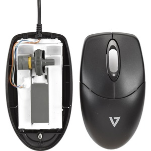 V7 Washable Antimicrobial Keyboard & Mouse Combo - USB Cable English (US) - Black - USB Cable Mouse - Optical - Black - Co