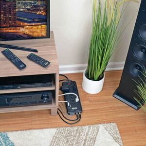 Tripp Lite Surge Protector Power Strip 12 Outlets, 2 USB Charging Ports Tel/Modem/Coax - 12 x NEMA 5-15R, 2 x USB - 1800 V