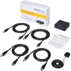 StarTech.com 4X4 USB 3.0 Peripheral Sharing Switch - USB Switch for Mac / Windows / Linux - 4 Port USB 3.0 Switch - USB A/