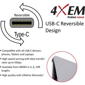 4XEM USB-C to Gigabit Adapter - USB Type C - 1 Port(s) - 1 - Twisted Pair - 1000Base-X - Desktop NETWORK ADAPT 10/100/1000