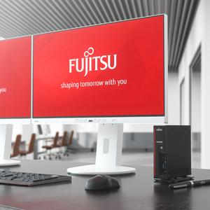 Desktop Computer Fujitsu ESPRIMO G558 - Intel Pentium Gold G5420 3,80 GHz Prozessor - 4 GB RAM DDR4 SDRAM - 64 GB SSD - Mi