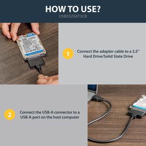 StarTech.com 50 cm SATA/USB Datenübertragungs-/Stromkabel für Notebook, Ultrabook, Speicherlaufwerk, Festplatte, Solid Sta