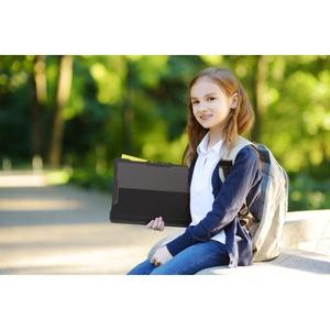 MAXCases Extreme Shell-S Chromebook Case - For Lenovo Chromebook - Textured - Black - Drop Resistant, Anti-slip, Impact Re