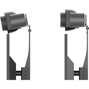 Heckler Design Cart Mount for Video Conferencing Camera, Display Cart, Mounting Panel - Black Gray RALLY BAR - BLACK GREY