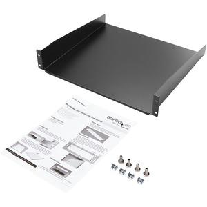 """StarTech.com 19"""" 2HE Fachboden für Serverschrank bis 20 Kg belastbar aus Stahlblech - 20 kg Static/Stationary Weight Capacity"""