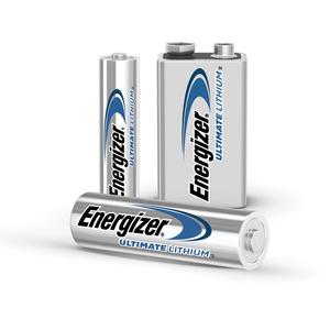 Energizer Ultimate Lithium 9V Batteries, 2 Pack - For Multipurpose - 9V - 9 V DC - Lithium (Li) - 2 / Pack