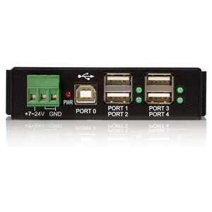 StarTech.com 4-Port Industrial USB 2.0 Hub with ESD Protection - Mountable - Multiport Hub (ST4200USBM) - Add four rugged