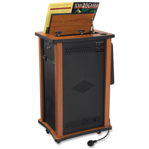 """Oklahoma Sound Wizard Lectern - Melamine Top - 1 Drawers - 18"""" Table Top Length x 21"""" Table Top Width - 34.50"""" Height - As"""