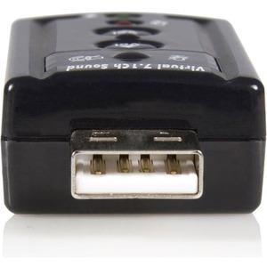 StarTech.com USB Audio Adapter 7.1 - USB Soundkarte extern - C-Medien - USB - 1 x Anzahl Mikrofon-Anschlüsse - 1 x Anzahl