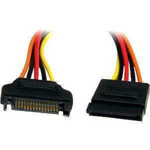 StarTech.com SATA Verlängerung 30cm - S-ATA 15 Pin Stromverlängerung Stecker / Buchse - für SATA-Laufwerk - SATA / SATA -