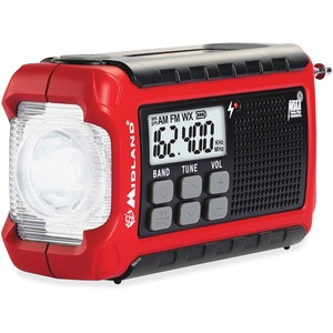 Midland ER210 E+Ready Compact Emergency Crank Weather Radio - with NOAA All Hazard, Weather Disaster - AM, FM COMPACT NOAA