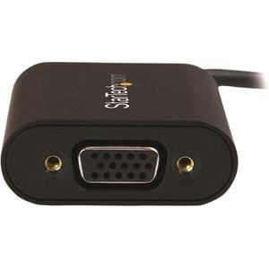 StarTech.com USB-C auf VGA Adapter - mit Presentations Mode Switch - 1920x1200 - USB Typ C zu VGA - 1 x Typ-C Stecker USB