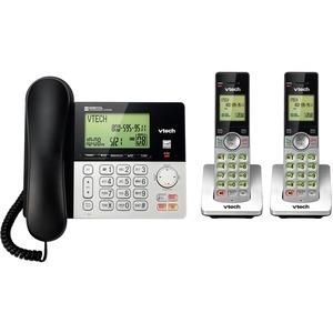 VTech CS6949-2 DECT 6.0 Standard Phone - Silver, Black - Cordless - 1 x Phone Line - 2 x Handset - Speakerphone - Answerin