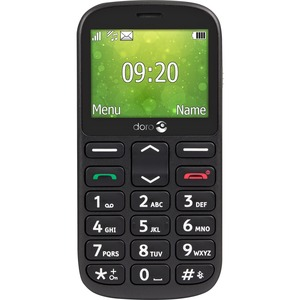 "Doro 1360 Feature Phone - 6.1 cm (2.4"") QVGA 240 x 320 - 8 MB RAM - 2G - Black - Bar - 2 SIM Support - SIM-free - 800 mAh"