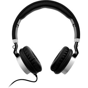 V7 Lightweight On-Ear Headphones - Black/Silver - Stereo - Mini-phone (3.5mm) - Wired - 32 Ohm - 20 Hz - 20 kHz - On-ear,