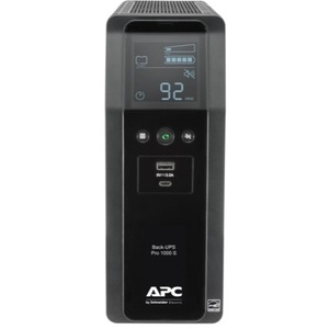 APC by Schneider Electric Back-UPS Pro BR1000MS 1.0KVA Tower UPS - Tower - 16 Hour Recharge - 3.70 Minute Stand-by - 120 V