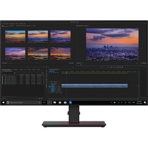 "Lenovo ThinkVision P27h-20 27"" WQHD WLED LCD Monitor - 16:9 - Raven Black - 27"" Class - In-plane Switching (IPS) Technolog"