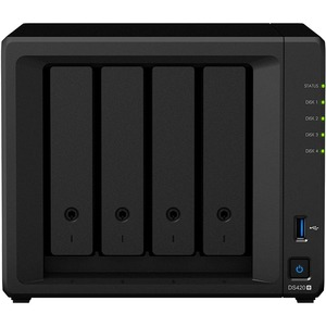 Synology DiskStation DS420+ SAN/NAS Storage System - Intel Celeron J4025 Dual-core (2 Core) 2 GHz - 4 x HDD Supported - 0