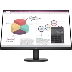 """HP P24v G4 23.8"""" Full HD LED LCD Monitor - 16:9 - Black - 24"""" Class - In-plane Switching (IPS) Technology - 1920 x 1080 -"""