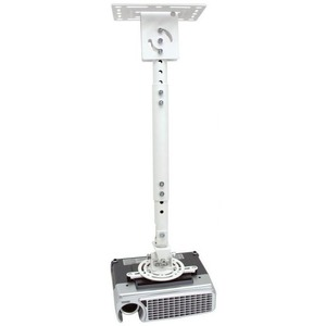 Atdec ceiling projector mount, adjustable drop - Loads up to 33lb - VESA up to 65x200 - 360° projector rotation - Adjustab
