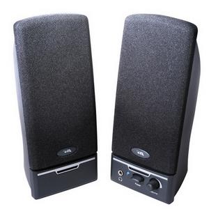 Cyber Acoustics CA-2014rb 2.0 Speaker System - 4 W RMS - Black - 85 Hz to 18 kHz VOL POWER HEADPHONE JACK RT SPEAKER