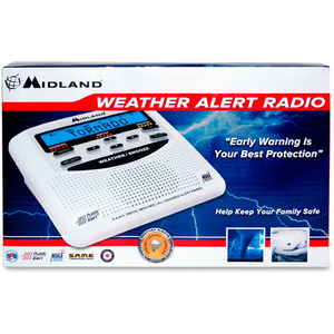 Midland WR120B Weather Alert - with Weather Disaster, NOAA All Hazard, Biological Hazard, Civil Emergency Message, Fire, C