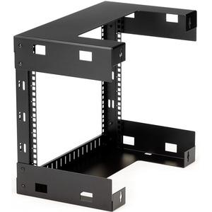 "StarTech.com 8HE 19"" Open Frame Geräte Rack Wandmontagefähig - 30cm Tief - max. 61,23 kg Traglast - 1"