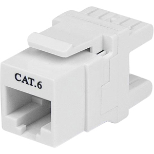 StarTech.com Cat6 Keystone Modul 180° - Ethernet RJ45 Wanddose Typ 110 - Weiß - Weiß