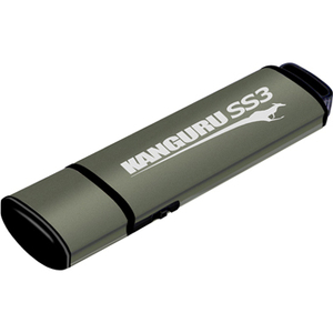 Kanguru SS3 USB3.0 Flash Drive with Physical Write Protect Switch, 16G - 16 GB - Write Protection Switch, TAA Compliant WI
