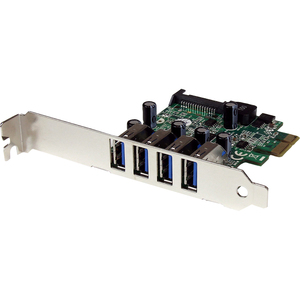 StarTech.com 4 Port PCI Express USB 3.0 SuperSpeed Schnittstellenkarte mit UASP - SATA intern - UASP-Support - 4 Total USB